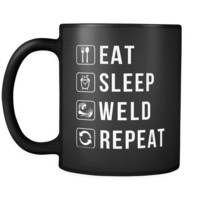 Eat Sleep Weld Repeat Mug