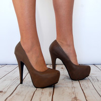 Step to the Beat Heels in Taupe
