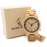 BOBO BIRD D27 Full Bamboo Wooden Watch for Men with Gift Box