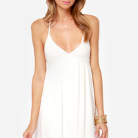 Just Another Daydream Ivory Lace Dress