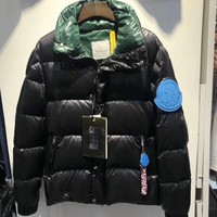 MONCLER winter Men White goose Down jacket/BLACK
