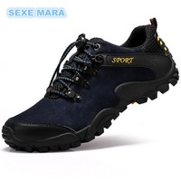 2017 Outdoor Sport Shoes Man Sneakers Men Brand Running shoes for men Genuine leather Shoes non-slip Off-road Walking Jogging