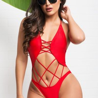 Cahuita Beach Monokini - Red