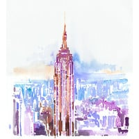 """Archival Print from Original Painting, Empire State Building Print, New York, New York Illustration Print series 11"""" x 17"""""""