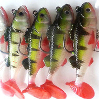 LS Durable Fishing Lures Sea Soft Bait Lead Artificial Bait Jig Silicon Lure US1