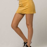 SKY AND SPARROW Corduroy Zip Front Mini Skirt