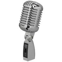 PYLE PDMICR68SL Classic Die-Cast Metal Retro-Style Dynamic Vocal Microphone (Silver)