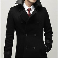 Men's Cotton-padded Clothes Thickening Overcoat