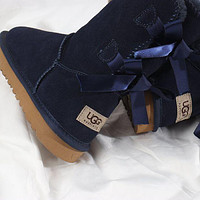 UGG Bow Leather Shoes Winter Half Boots Shoes 1