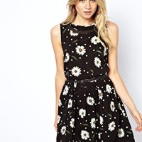 Oasis Daisy Print Dress at asos.com