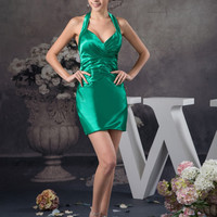 Don's Bridal 2016 Straight Sweetheart Neck Satin Mini Cocktail Dresses Homecoming Party Gown Custom Made Coctail Dress