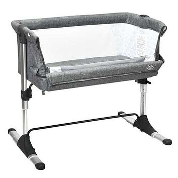Travel Portable Baby Bed Side Sleeper  Bassinet Crib with Carrying Bag-Gray - Color: Gray