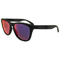 Oakley Sunglasses Frogskins 24-399 Soft Touch Carbon Red Iridium
