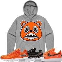 ORANGE BAWS Grey Sneaker Hoodie - Nike Air Just Do It