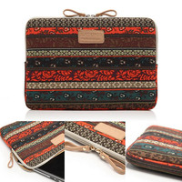 Boho Style Canvas Fabric Laptop Sleeve Case