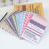 Hot Sales 27 Pcs Scrapbooking Masking Tape Craft Stickers Pack Decorative Labelling Art Adhesives 1010