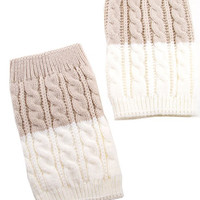 Two Tone Boot Cuffs- Ivory