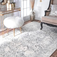 nuLOOM Vintage Floral Ornament Ivory Rug (8' x 10') | Overstock.com Shopping - The Best Deals on 7x9 - 10x14 Rugs