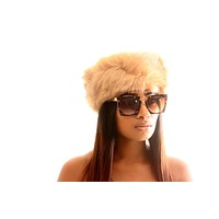 Faux Fur HeadBand- Brown