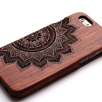 Wood case Flower Wood iPhone Case covers  iphone 6  iphone 6 plus iphone 5/5s/5c iphone 4 Samsung Galaxy case