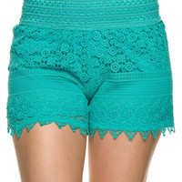 Lace Shorts - Mint
