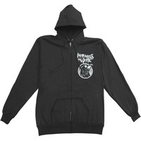 Motionless In White Men's  Raven Zippered Hooded Sweatshirt Black
