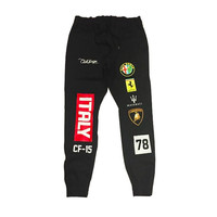 Club Foreign Italy Race Sweatpants in Black