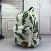 Unique Cute Retro Pineapple Print Rucksack Backpack SchoolBag Womens Mens Bag + High quality + Free Shipping