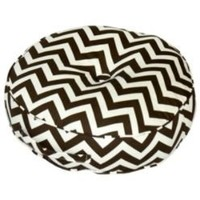 20 - inch Round Floor Pillow - Zig Zag fabric - Brown.- Greendale Home Fashions-For the Home-Pillows, Throws & Slipcovers-Pillows