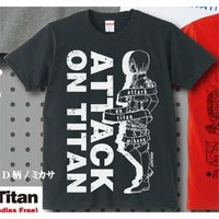 Attack on Titan Official T-Shirt (D Type) ~ Mikasa
