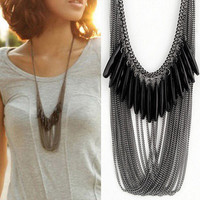 Black Droplets Necklace