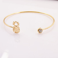 Joey Pineapple Gold and Silver Bangle