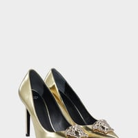 Versace Palazzo Leather Pumps for Women | US Online Store