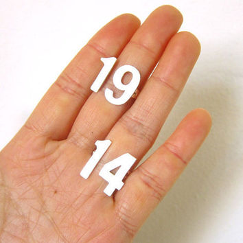 Personalize Custom   Lucky Number Ring  by SmilingSilverSmith