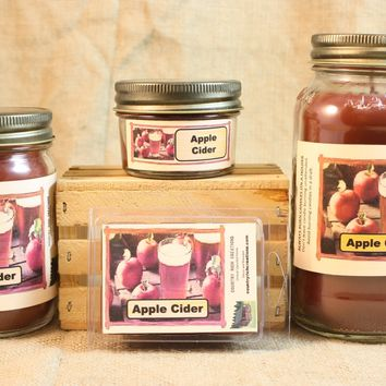 Apple Cider Scent Candles and Wax Melts, Beverage Scent Candle Wax, Highly Scented Candles and Wax Tarts, Great Fall Candle