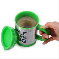 Automatic Coffee Mixing Cup Mug Drinkware Stainless Steel Coffee Cup Mug Self Stirring Electic Cooking Tools
