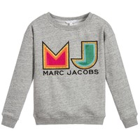 Marc Jacobs Girls Grey 'MJ' Logo Sweatshirt