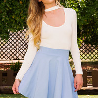 She Says Skater Skirt - Periwinkle