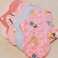 Five, 10 inch Washable Leak Proof Menstrual Pads CHOOSE YOUR PRINT