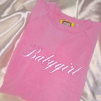 SWEET LORD O'MIGHTY! OG BABYGIRL CROP TEE IN PINK