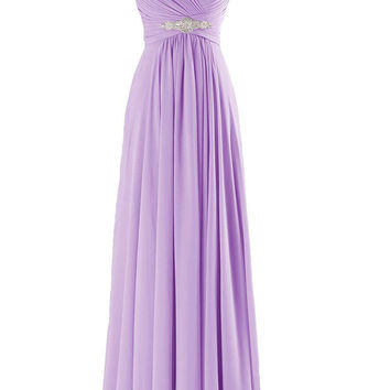A-line V-neck Navy Bridesmaid Dresses For Formal Party Am211