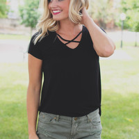 Coffee Break Top - Black