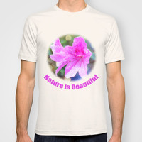 pretty purple garden flowers. nature is beautiful. floral photo art. T-shirt by NatureMatters
