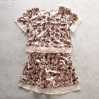 Set the Tone Sequin Disc Separates in Rose Gold
