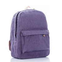 On Sale Comfort Hot Deal Stylish College Casual Back To School Simple Pale Violet Travel Backpack [8097972039]