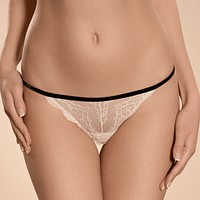 Sexy Sheer Lace V-String Panty Ajour Chatelet