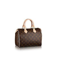 DCCK1U1 Louis Vuitton Monogram Canvas Speedy 25 M41109 tote bag
