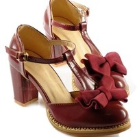 2013 New Arrival Patent Leather Bowknot and Chunky Heel Design Sandals For Women