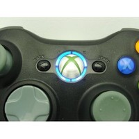 BLUE LEDS Xbox 360 Rapid Fire 8 MODE Stealth BLACK Controller Modded