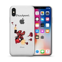 Deadpool Jelly Clear Case for Apple Iphone X (10)